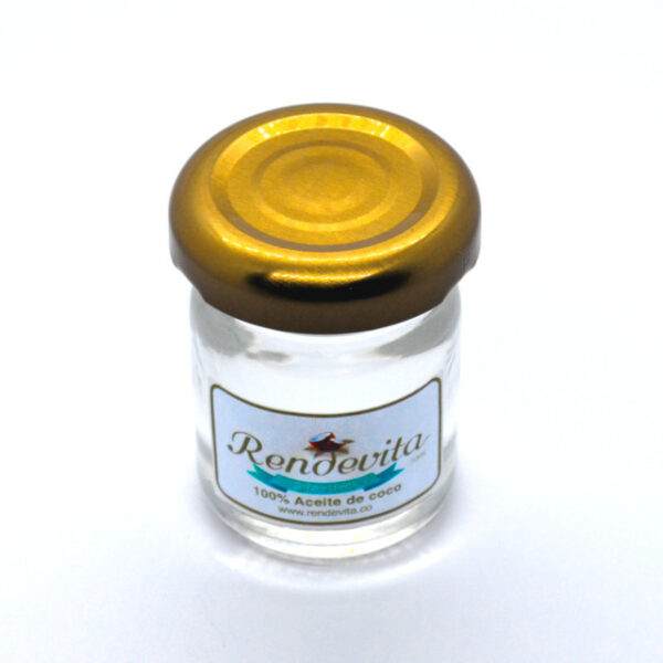 Aceite de Coco Virgen Prensado en frio y menta Rendevita 30 ml liquido